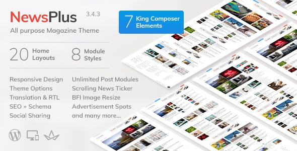 NewsPlus Wordpress Theme Free Download