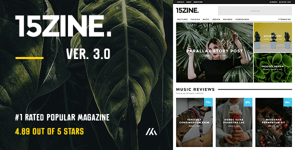 15Zine WordPress Theme