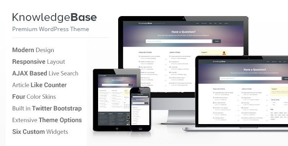 Knowledge Base WordPress Theme Free Download