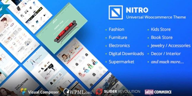 Nitro v1.7.8 Nulled - Universal WooCommerce Theme from ecommerce experts
