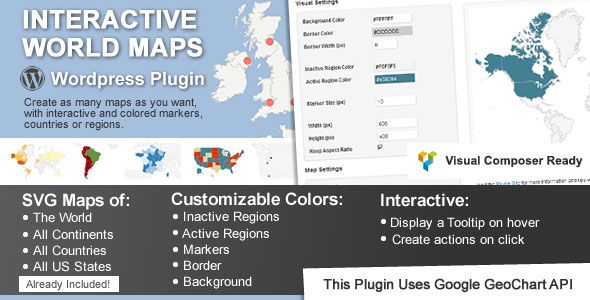 Interactive World Maps WordPress Plugin