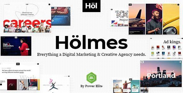 Holmes Digital Agency Theme
