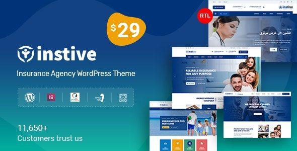 Instive v1.0.3 – Insurance WordPress Theme