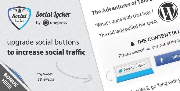Social Locker for WordPress Nulled Free Download