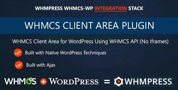 Whmcs Client Area WordPress Addon