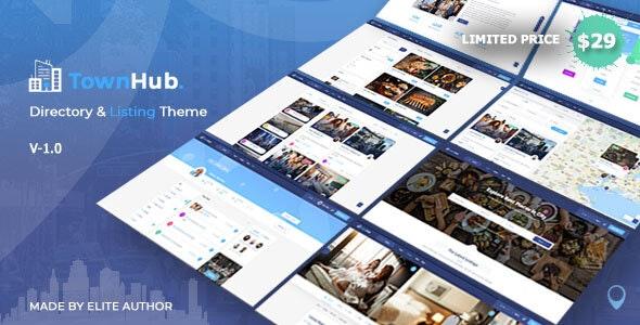 TownHub Nulled – Directory & Listing WordPress Theme
