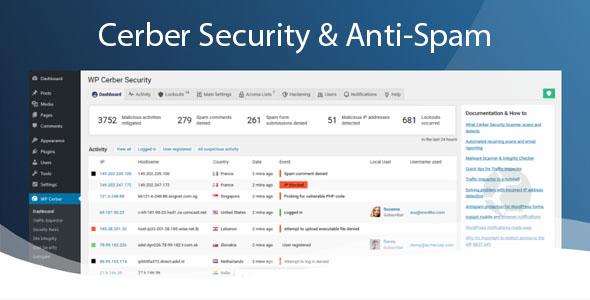 WP Cerber Security Pro WordPress Plugin free download