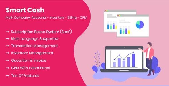 Smart Cash v3.1 - Multi Company Accounts Billing & Inventory(SaaS)