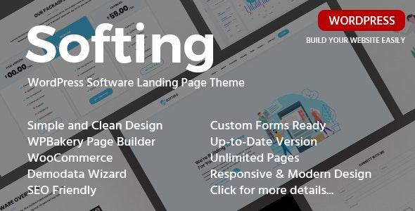 Softing v1.3.3 - Landing Page WordPress Theme