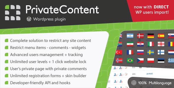 PrivateContent WordPress Plugin free download