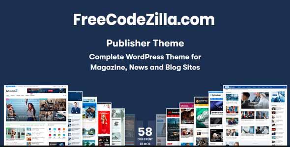 Publisher – Newspaper and Magazine WordPress Theme Free Download