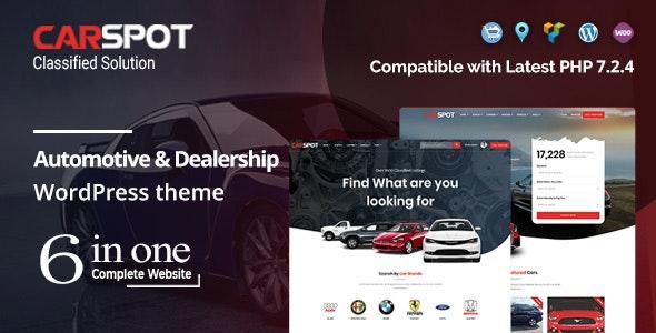 CarSpot WordPress Theme free download
