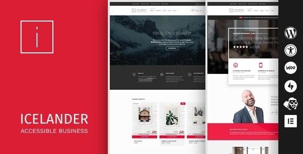 Icelander WordPress Theme Free Download