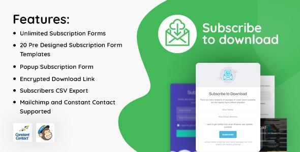 Subscribe to Download WordPress Plugin Free Download