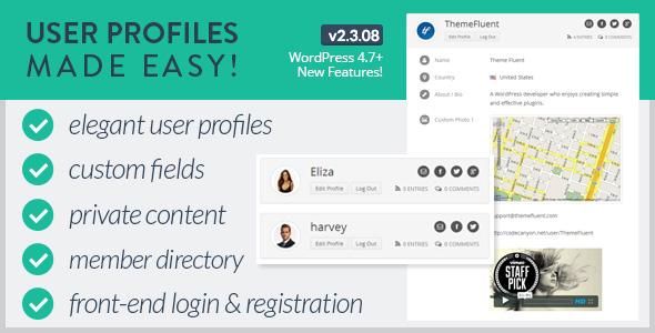 User Profiles Made Easy WordPress Plugin Free Download