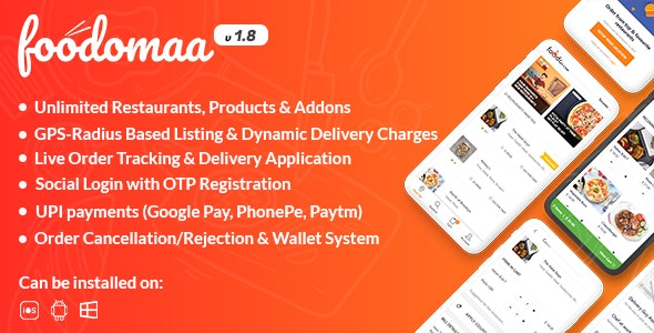 Foodomaa Nulled Multi-restaurant Food Ordering, Restaurant Management
