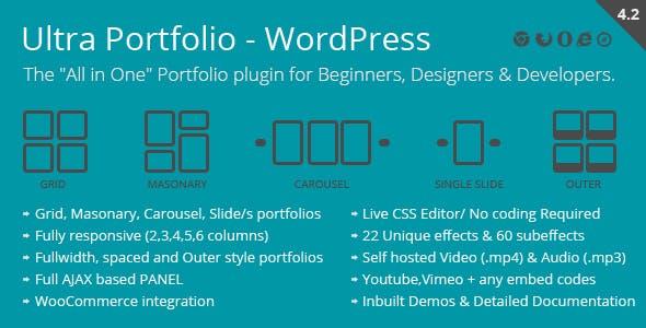 Ultra Portfolio WordPress Plugin Free Download