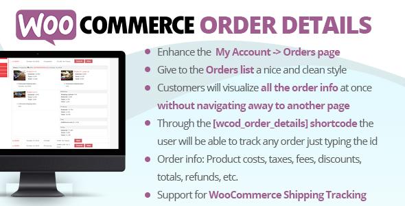 WooCommerce Order Details Plugin Free Download