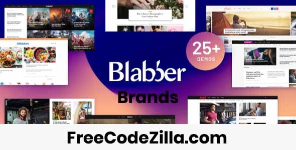 Blabber – Blog & News Magazine WordPress Theme Free Download