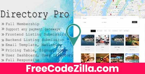 Directory Pro WordPress Plugin Free Download