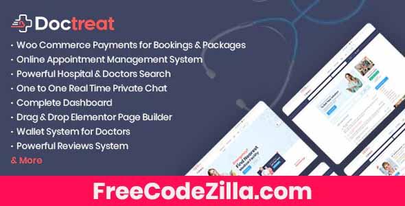 Doctreat – Doctors Directory WordPress Theme Free Download