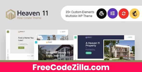 Heaven11 - Property & Apartment Real Estate WordPress Theme Free Download