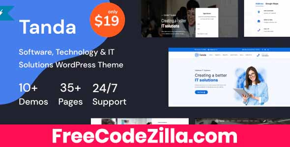 Tanda – Technology & IT Solutions WordPress Theme Free Download