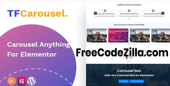 TfCarousel v1.0.3 – Carousel Anything For Elementor Free Download