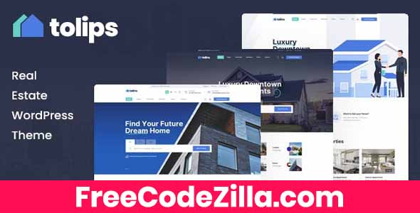 Tolips – Real Estate WordPress Theme Free Download