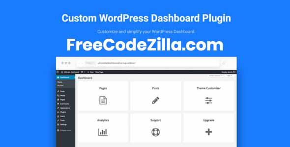 Ultimate Dashboard Pro Nulled – WordPress Dashboard Plugin Free Download
