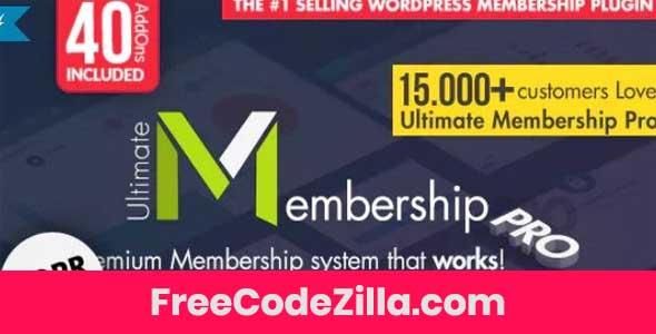 Ultimate Membership Pro – WordPress Membership Plugin Free Download