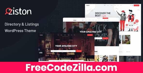 Ziston - Directory Listing WordPress Theme Free Download