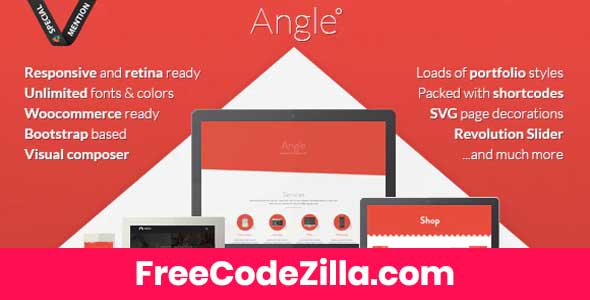 Angle - Flat Responsive Bootstrap MultiPurpose Theme Free Download