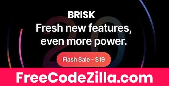 Brisk v2.0.2 - Multi-Purpose Elementor WordPress Theme