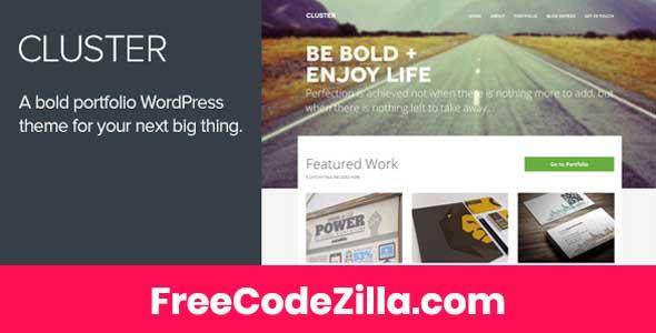 Cluster - A Bold Portfolio Wordpress Theme Free Download