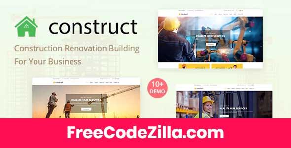 Construct - Construction WordPress Theme Free Download