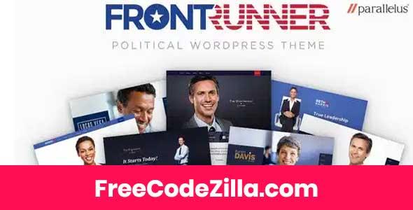 FrontRunner - Political WordPress Theme Free Download