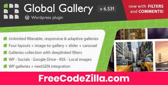 Global Gallery - Wordpress Responsive Gallery Free Download