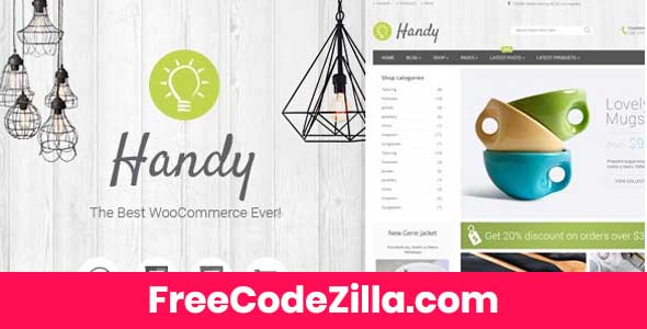 Handy - Handmade Shop WordPress WooCommerce Theme Free Download
