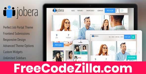 Jobera - Job Portal WordPress Theme Free Download