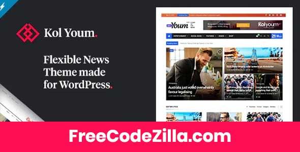 Kolyoum - Newspaper WordPress Theme Free Download