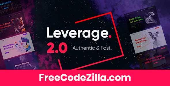 Leverage – Creative Agency & Portfolio WordPress Theme Free Download
