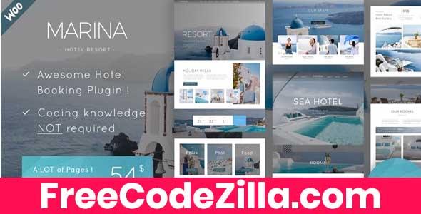 Marina - Hotel Resort WordPress Theme Free Download