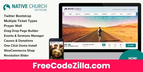 Native Church - Multi Purpose WordPress Theme Free Download