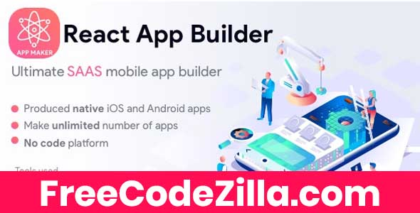 React App Builder - Saas - Unlimited number of apps Free Download