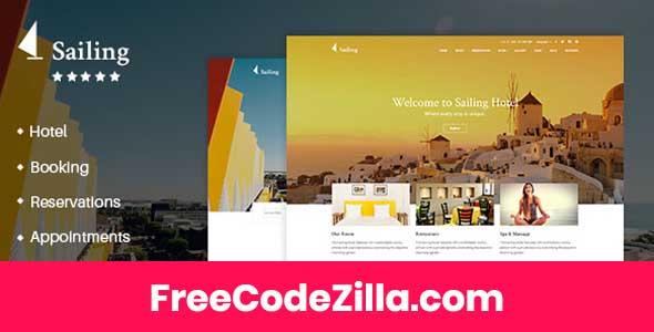 Sailing - Hotel WordPress Theme Free Download