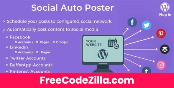 Social Auto Poster - WordPress Plugin Free Download