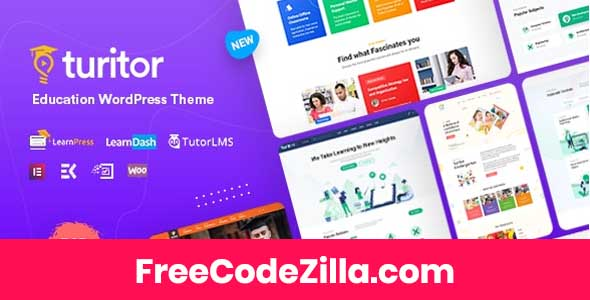 Turitor - LMS & Education WordPress Theme Free Download