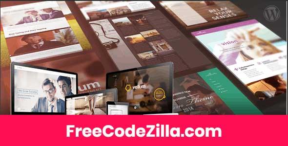 Vellum – Responsive WordPress Theme Free Download