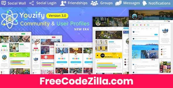 Youzify (formerly Youzer) + Addons – Buddypress Community & WordPress User Profile Plugin Free Download